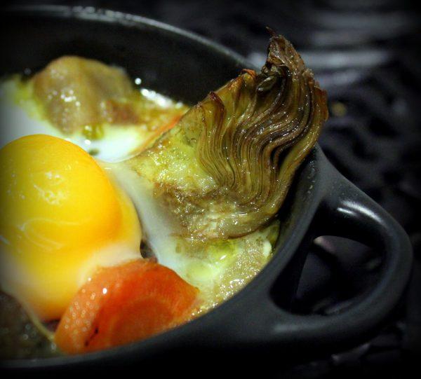 Verduras salteadas con huevo