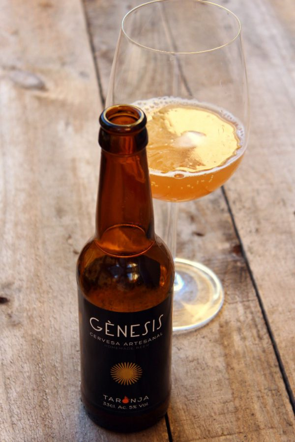 cerveza artesanal genesis de naranja