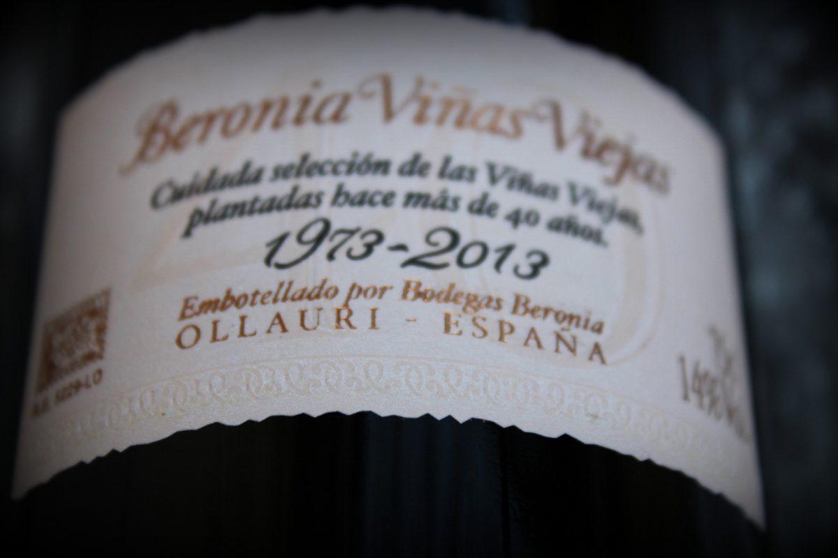 Bodegas Beronia Viñas Viejas 1973-2013