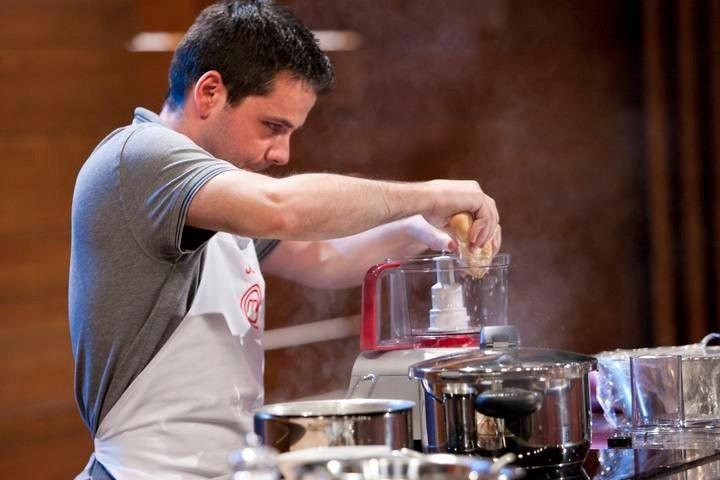 Jose David con el procesador de alimentos de Bosch
