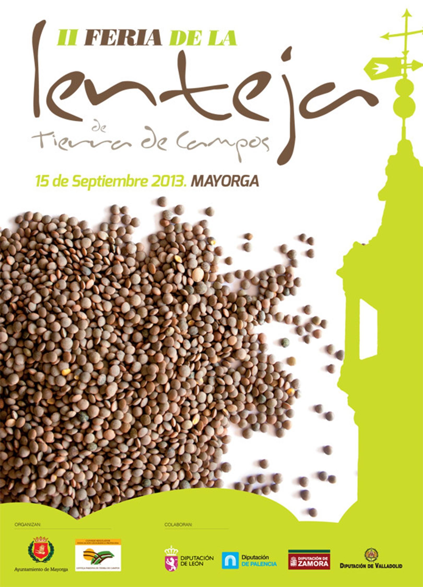 Cartel Feria de la Lenteja de Tierra de Campos 2013