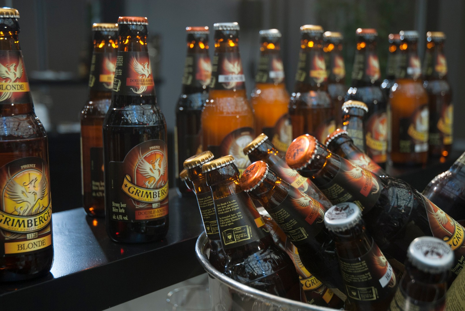 Cerveza de abadia Grimbergen Blonde