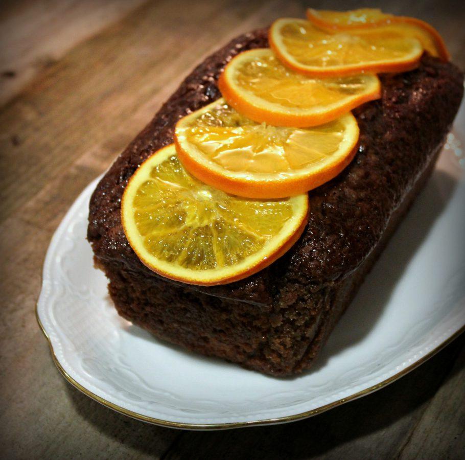 Bizcocho de chocolate y naranja confitada
