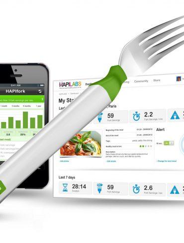 HAPIfork aplicacion del tenedor inteligente