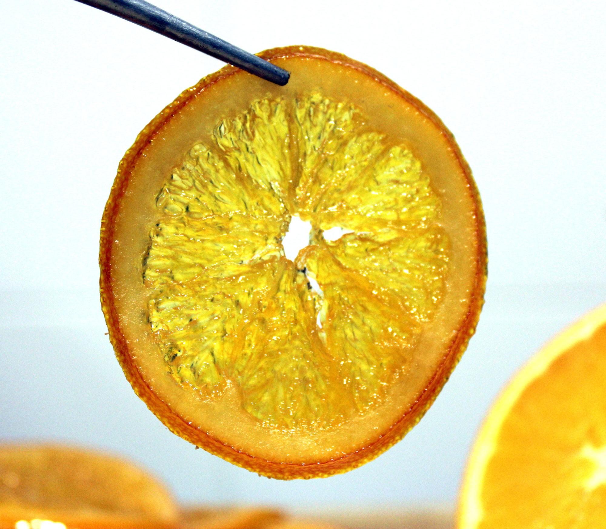 Receta de naranja confitada