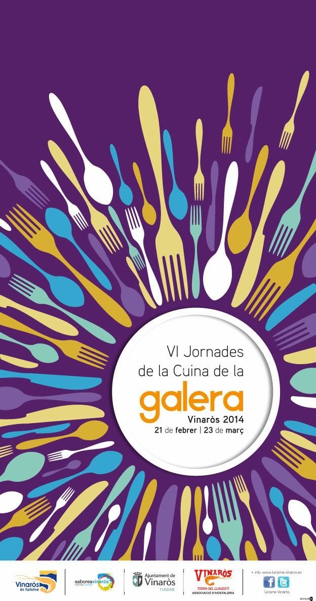Cartel VI Jornadas de Cocina de la Galera de Vinaròs