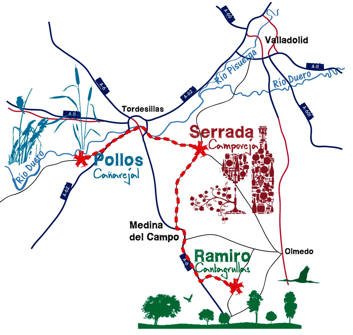 Camino del Queso en Valladolid
