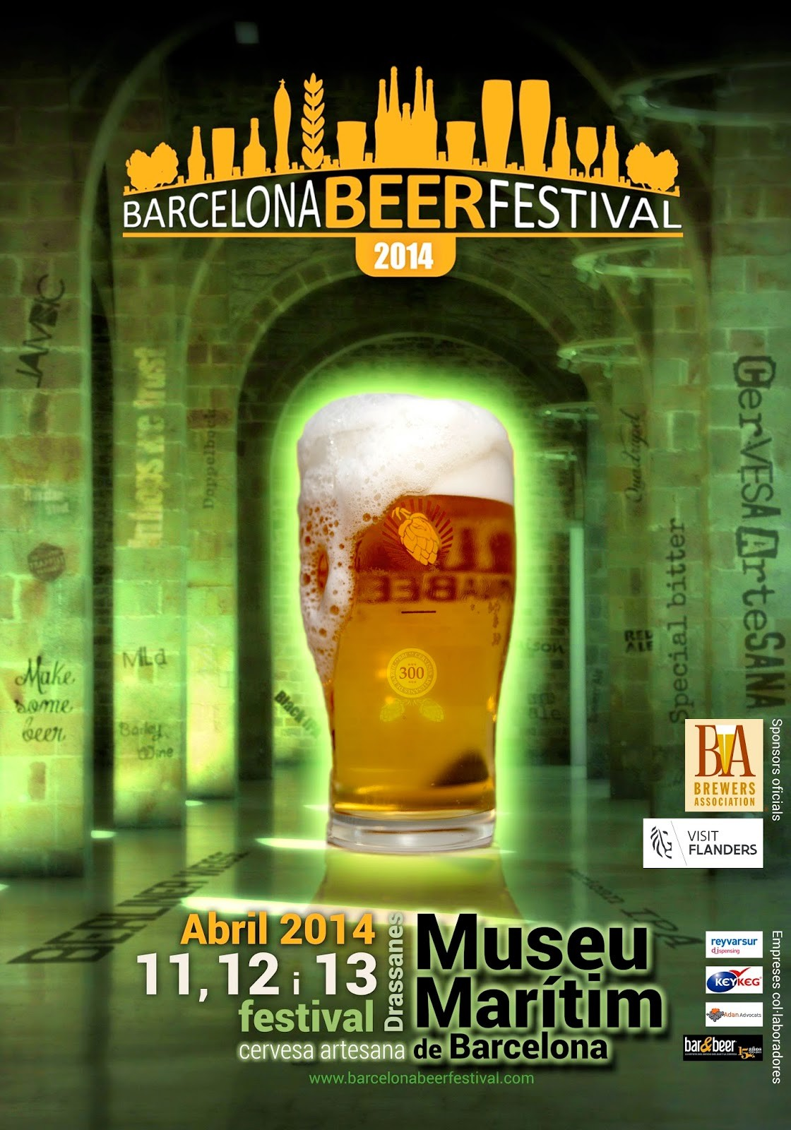 Cartel Barcelona Beer Festival 2014