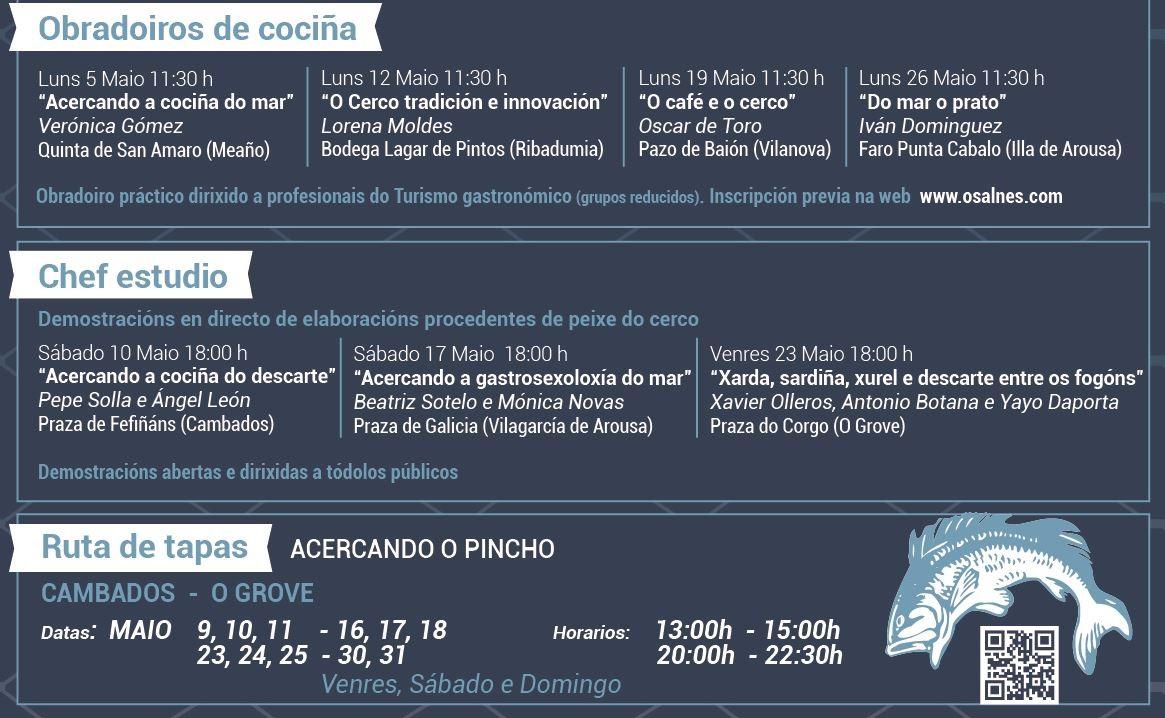 "programa ""Acercando"", Jornadas Gastronómicas del pescado azúl"