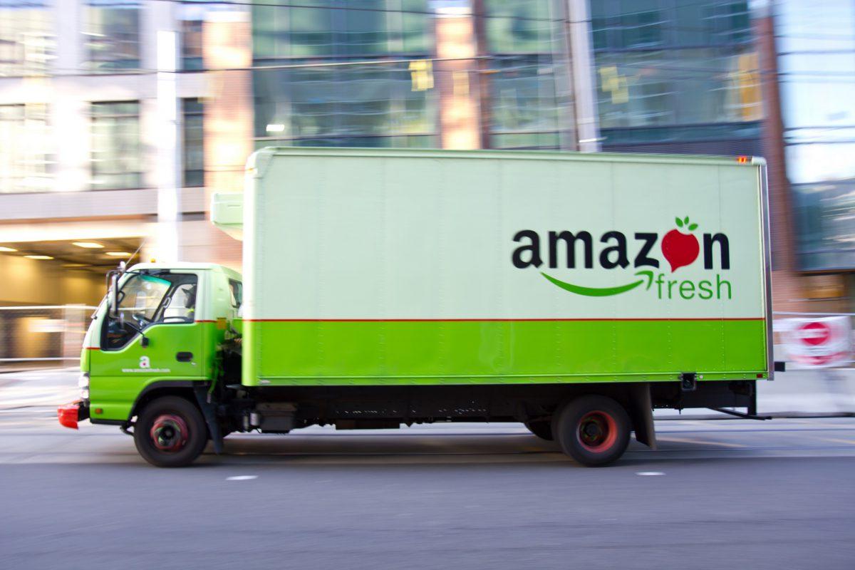 Camión de Reparto AmazonFresh