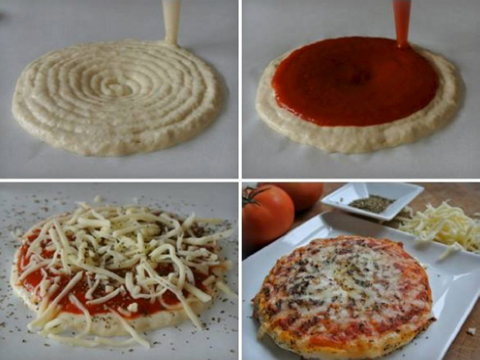 Pizza impresa con Foodini
