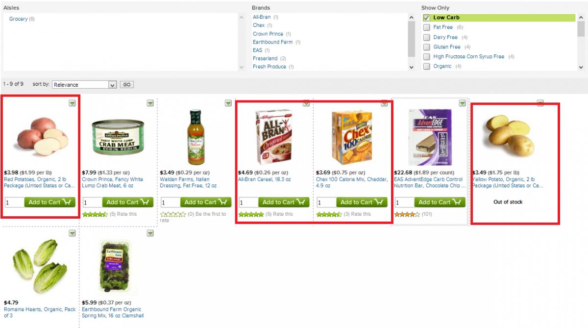 WEB de AmazonFresh