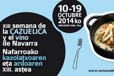 Semana de la Cazuelica y el Vino de Navarra 2014