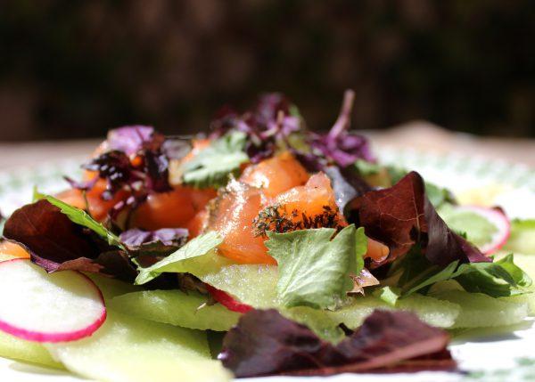 Ensalada de melón con salmón