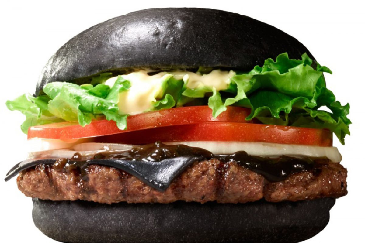 Hamburguesa negra Kuro Diamond
