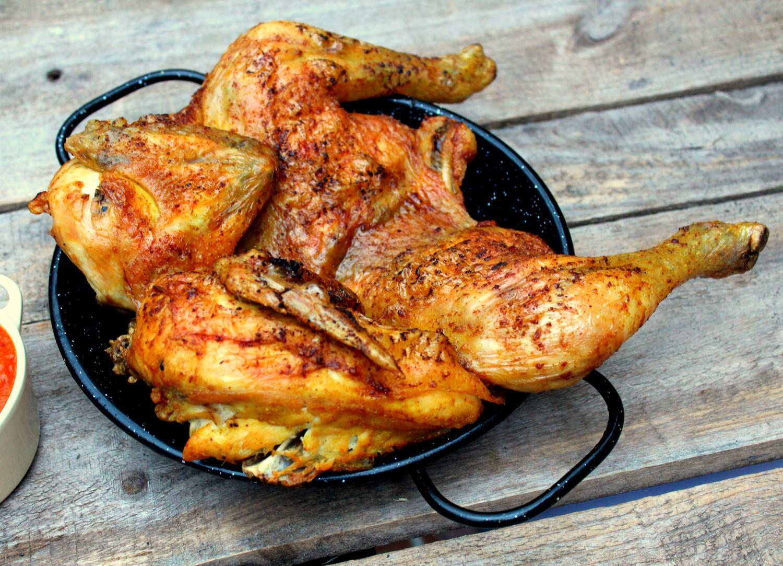 Pollo asado al curry