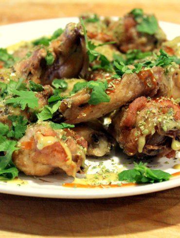 Alitas de pollo con miel y mostaza