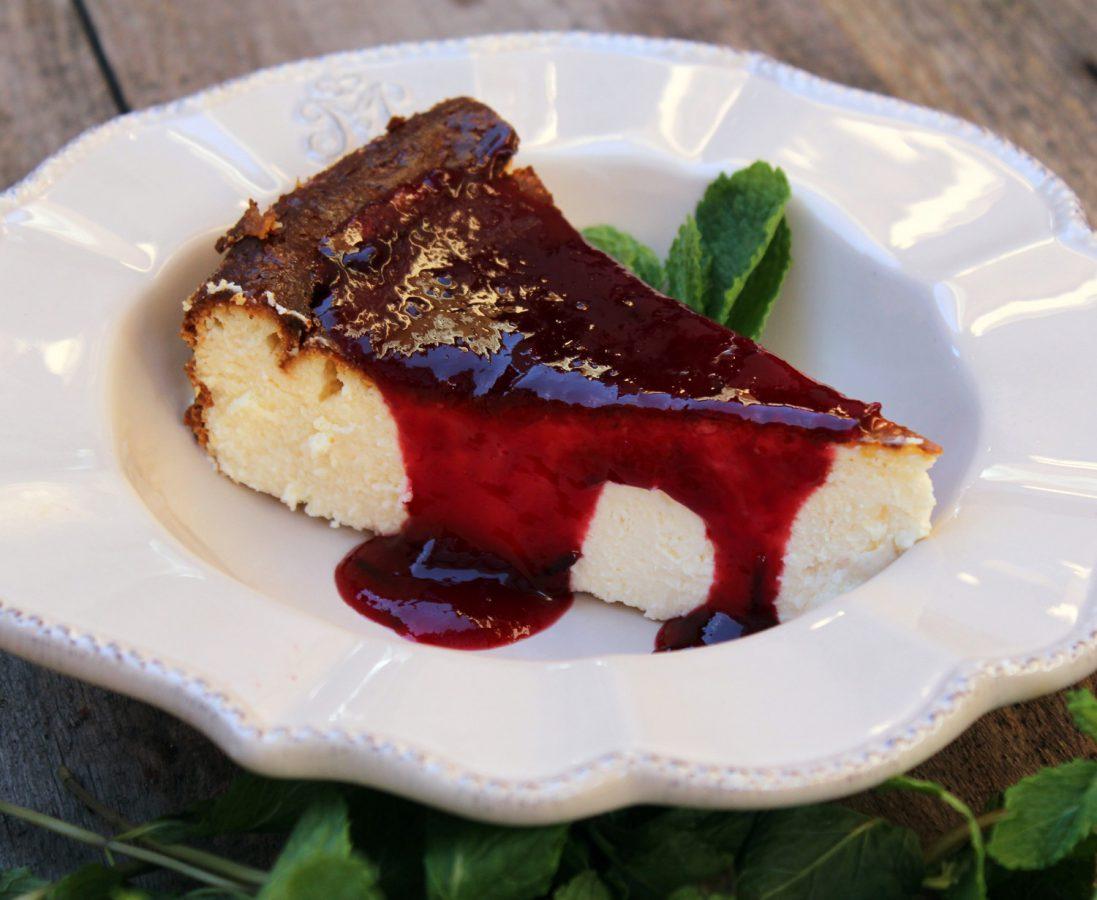 Tarta de queso con mermelada de frutos rojos - Cheesecake