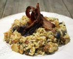 arroz con rabo desmigado, careta y papada de cerdo ibérico