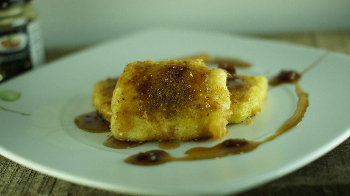 Receta de Leche Frita con Salsa Pedro Ximenez con pasas (1)