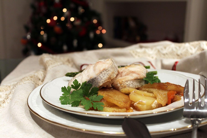 Merluza al horno para Navidad