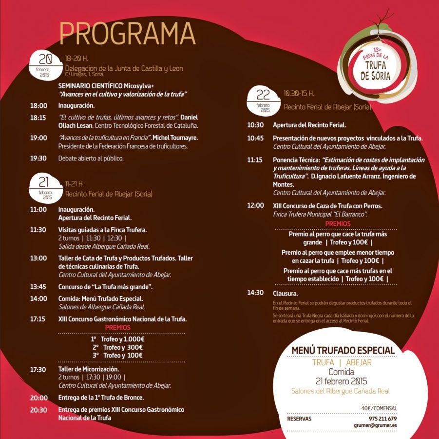 Programa XIII Feria Trufa Soria Abejar
