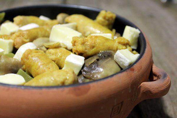 Judías Verdes con Salchichas al curry