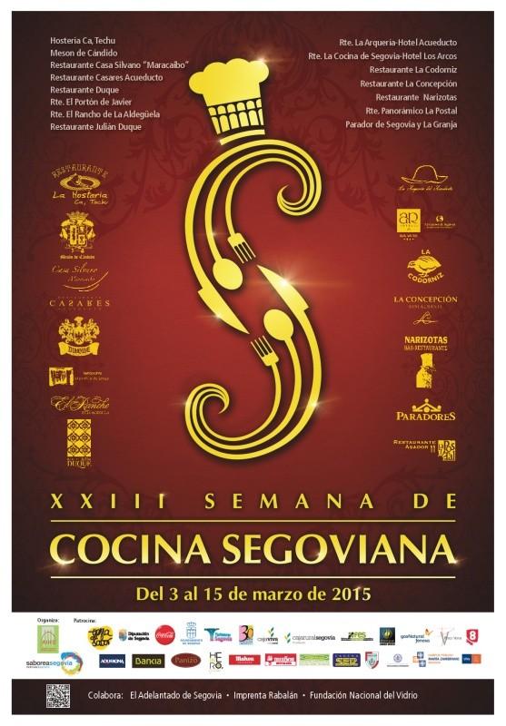 cartel semana cocina segoviana 2015