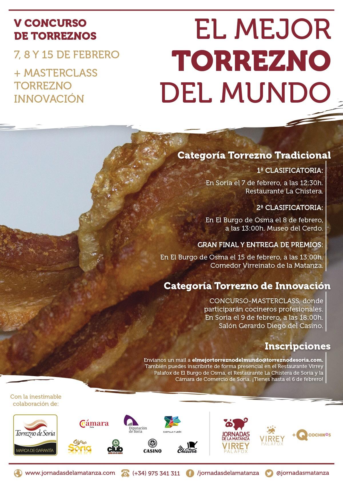 Cartel V Concurso de Torreznos de Soria