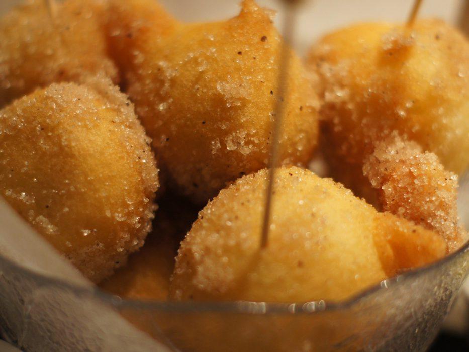 Donuts rellenos de plátano (2)