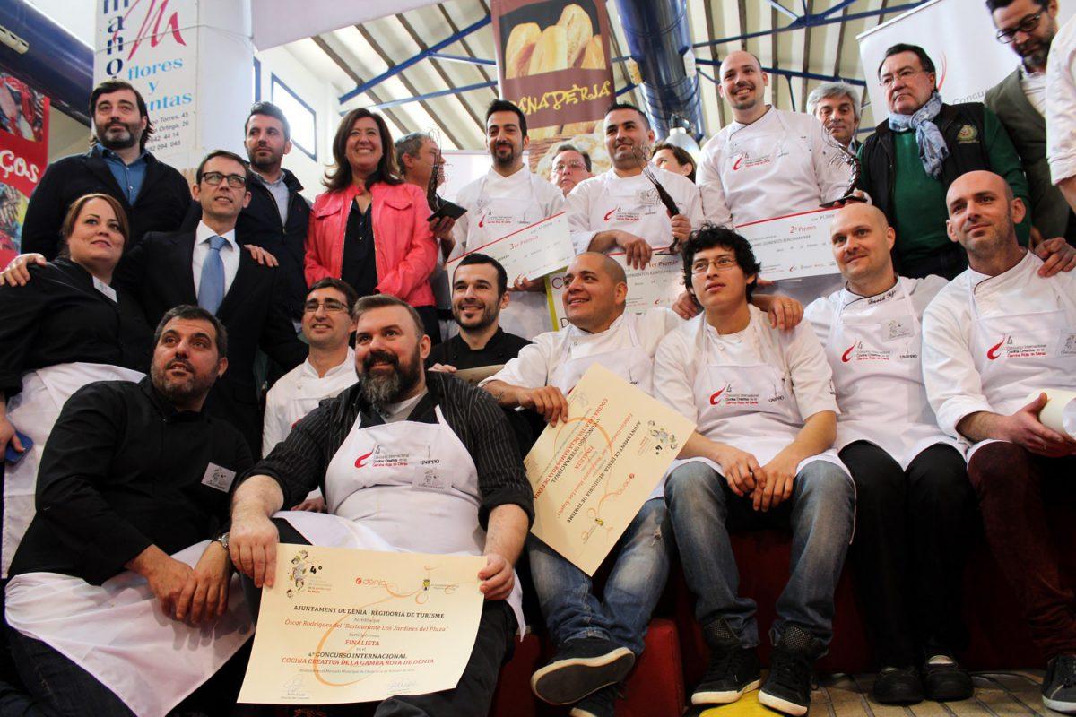Participantes, jurado y organización IV Concurso de la Gamba Roja Dénia
