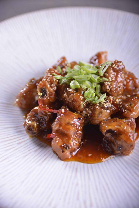 Costillas cantonesas con salsa agridulce