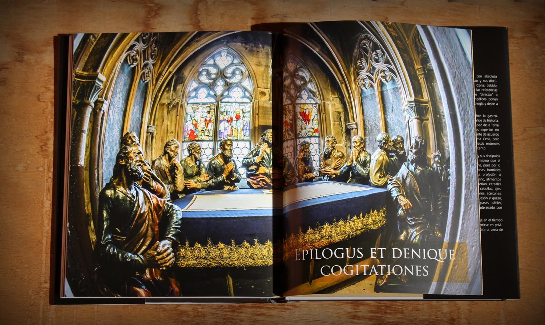 Interior del libro La Última Cena, un libro de Miguel Ángel Almodóvar