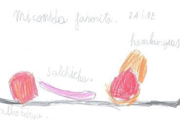 La comida que imagina Jaime (5 años)