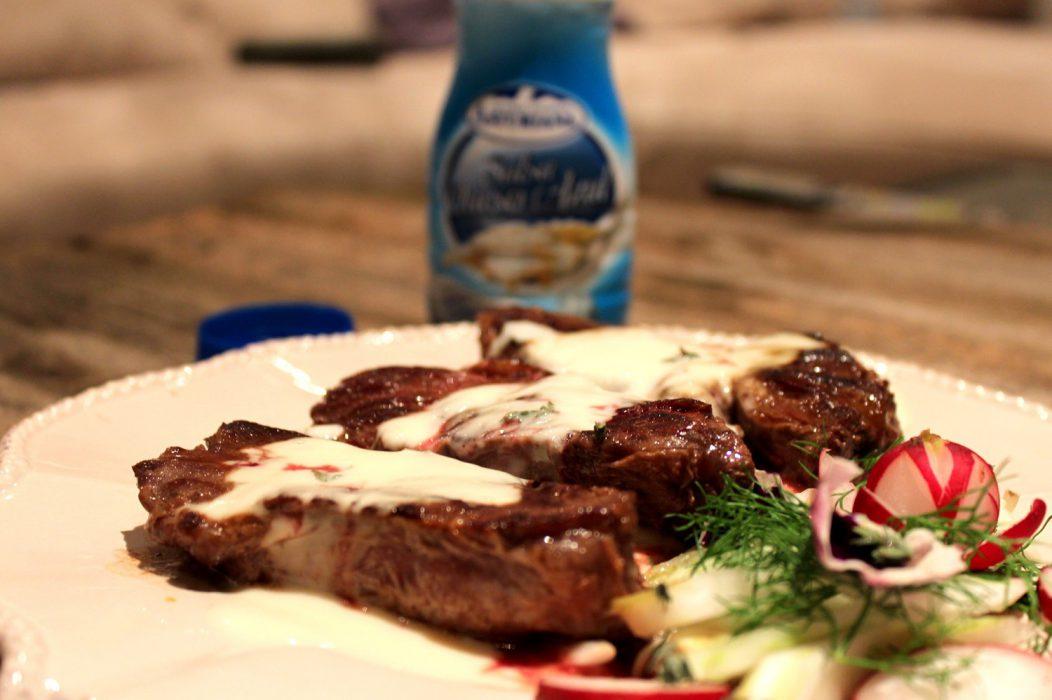 Solomillo en Salsa de queso azul
