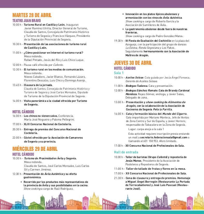 Congreso de Turismo y Gastronomía Ciudad de Segovia 2015