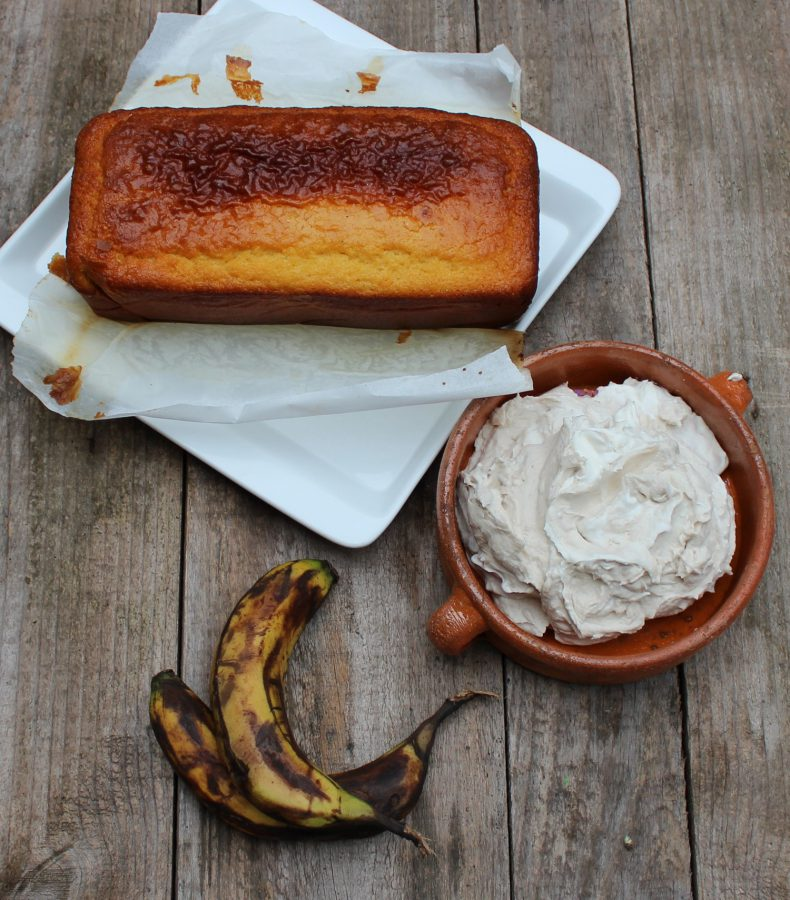 Ingredientes del Bizcocho de vainilla con plátano