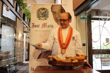José María Ruiz en su Restaurante de Segovia