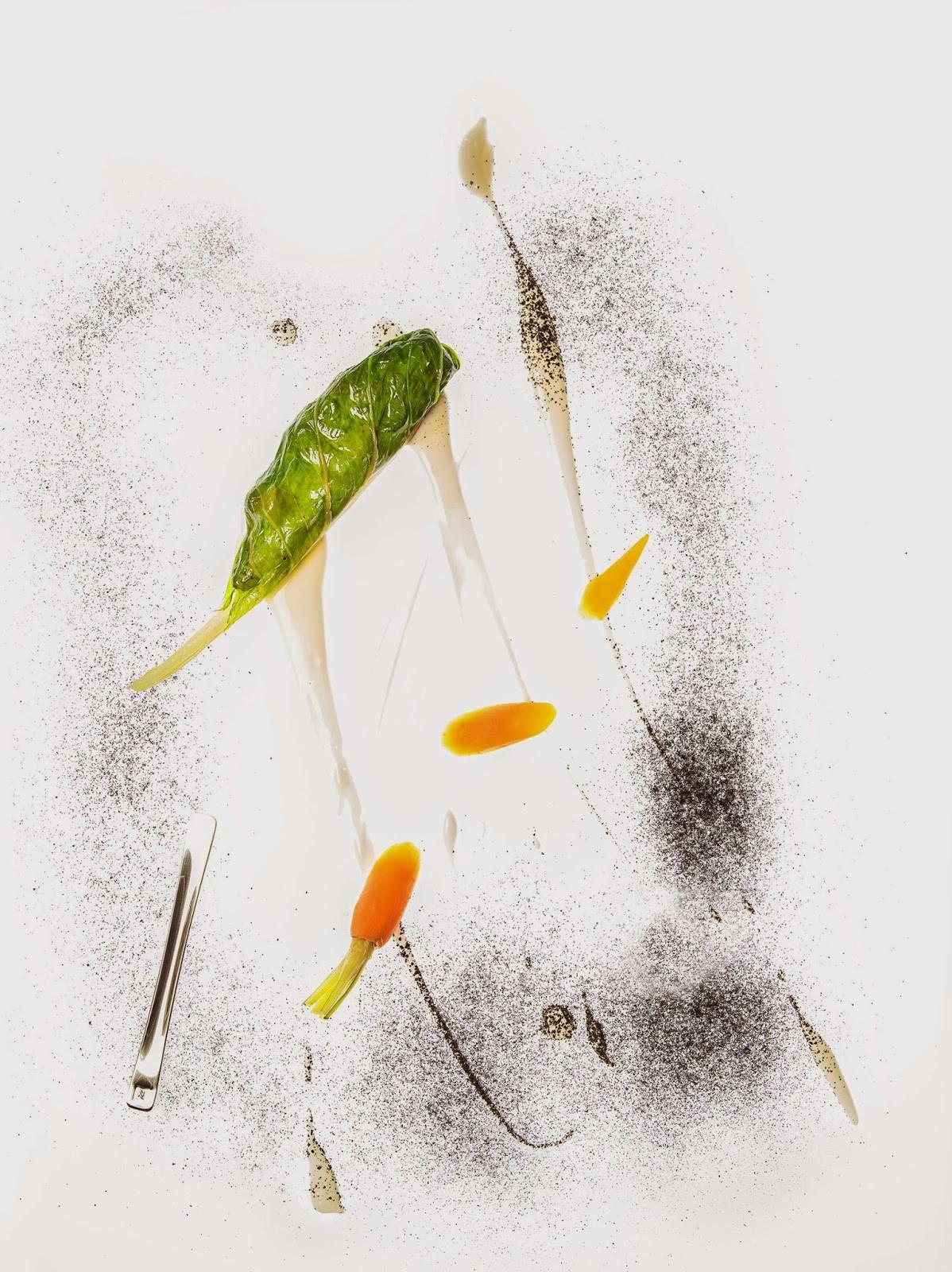 Nespresso_Freixa_Dentro de una hoja verde, colmenillas y mollejas