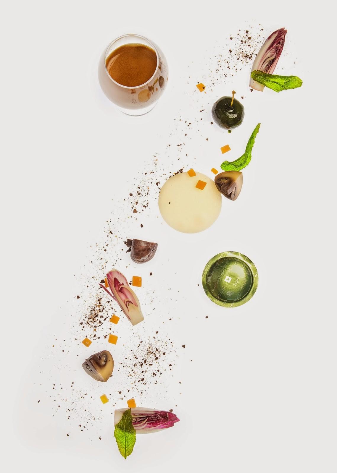 Nespresso_Freixa_Sobre un velo de tupinambas, amargos, queso gouda, champiñones cafeinados y manzana con toques mentolados_01