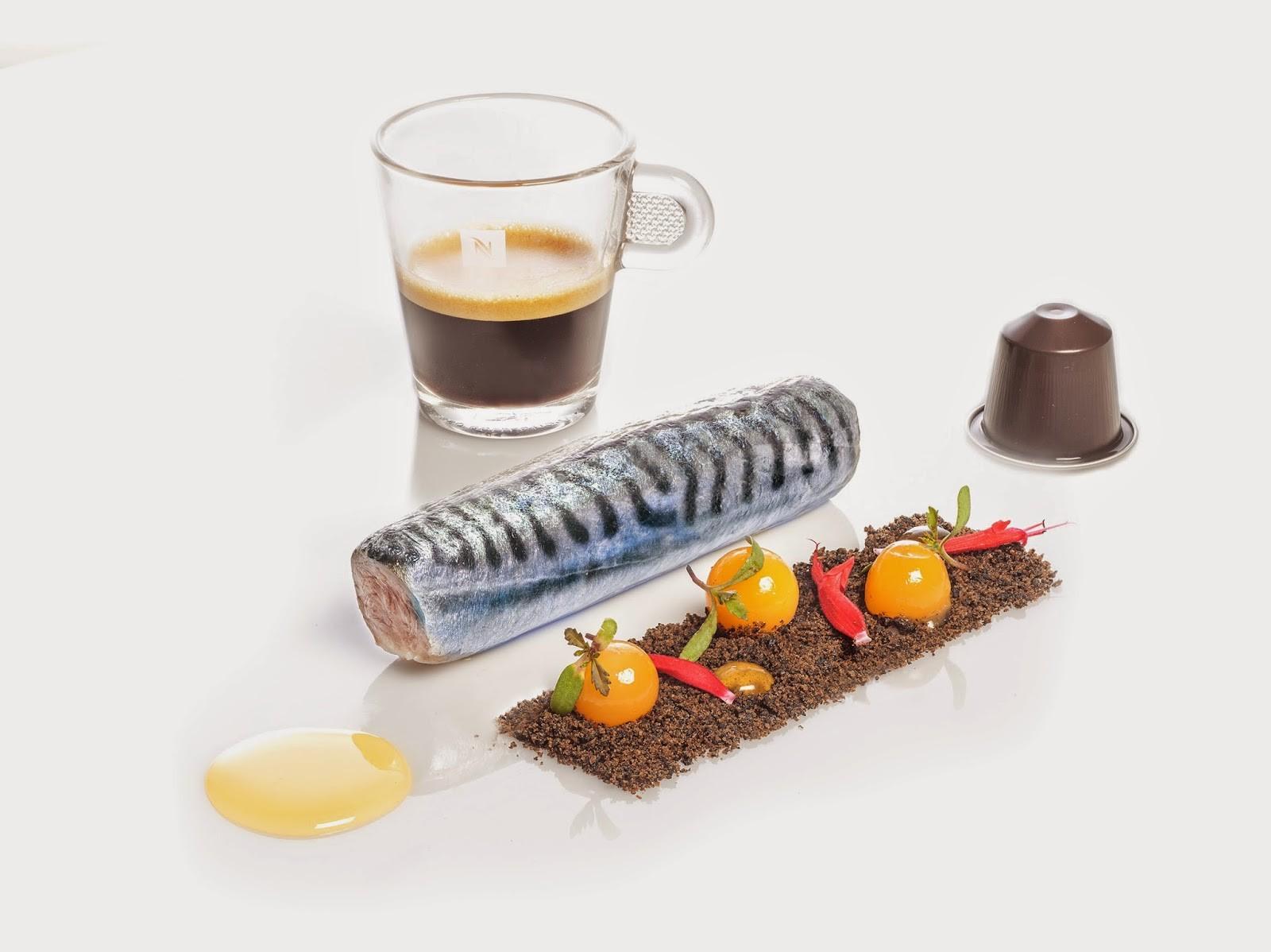 NespressoGourmetWeeks_SergiArola_Lomo de caballa, tierra cafetera y gel de Amaretto_01