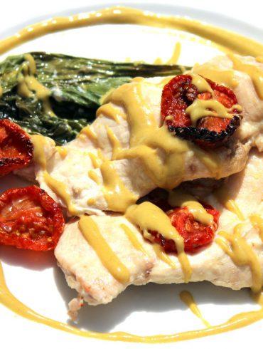 pechugas de pollo al horno con pak choi - 1