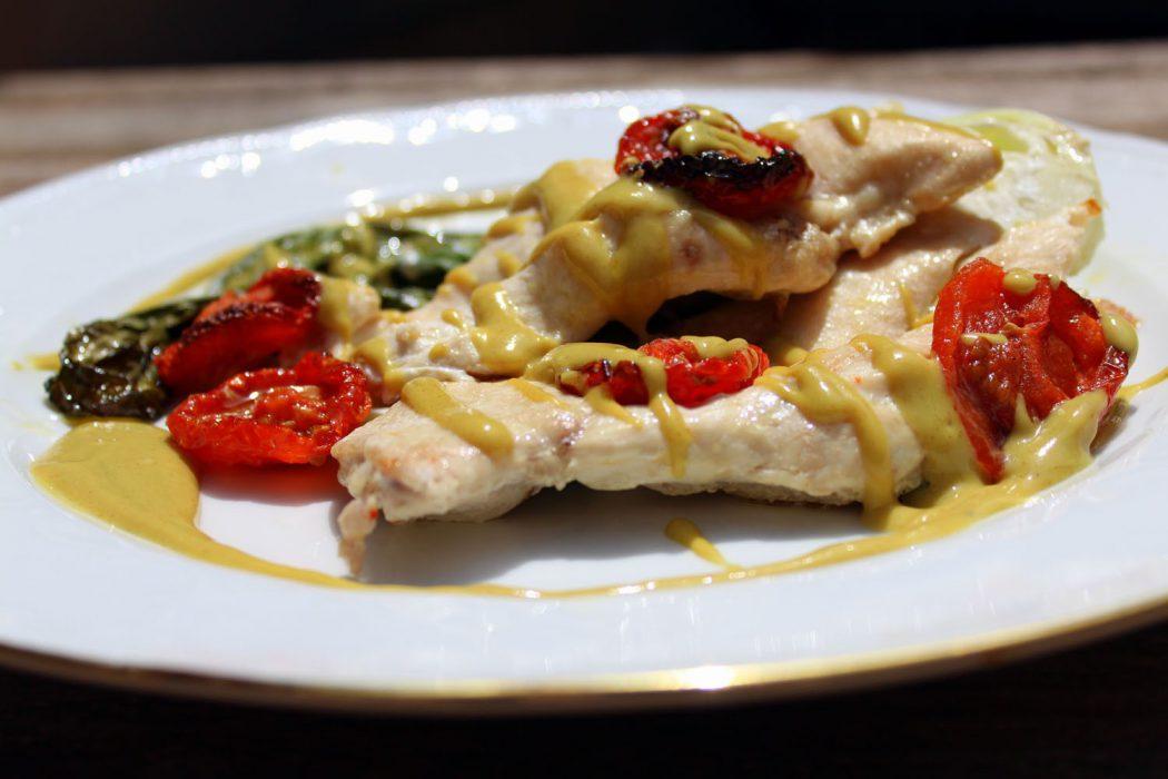 pechugas de pollo al horno con pak choi - 2