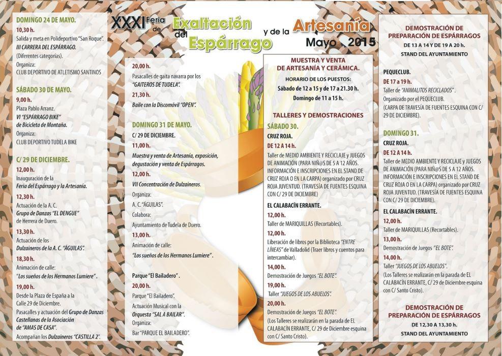 programa fiesta del esparrago tudela de duero 2015