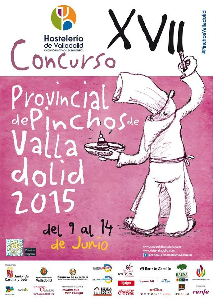 concurso provincial de pinchos de valladolid 2015 - cartel