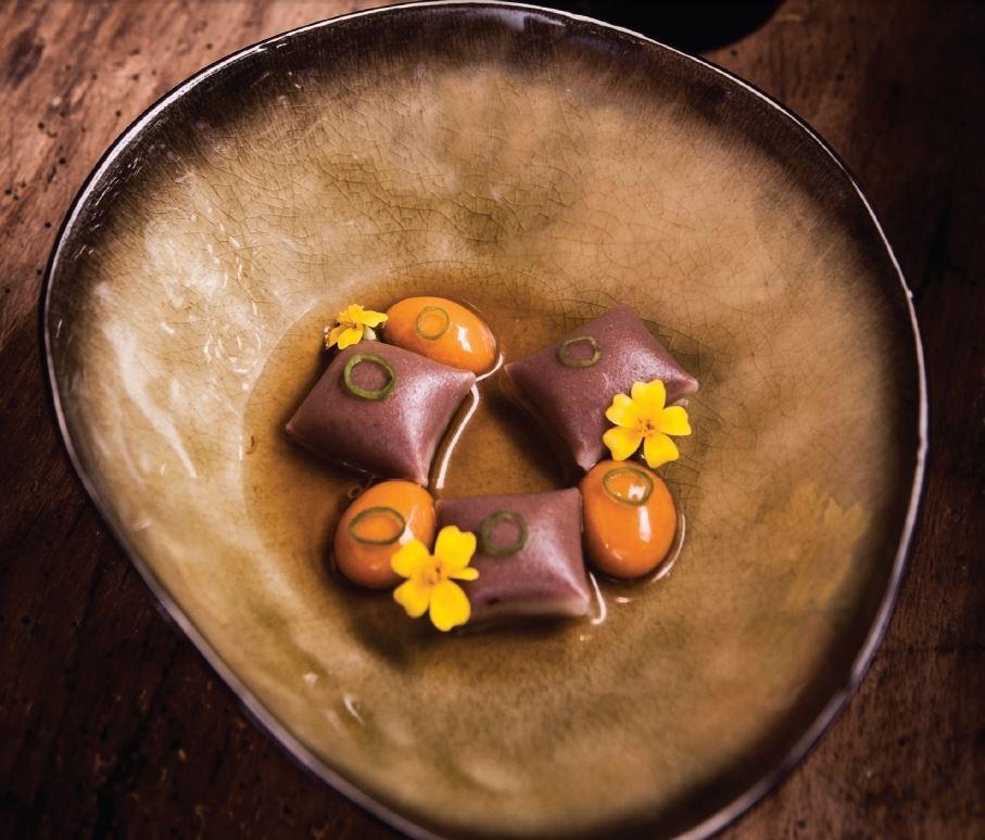 Raviolis de alubia de tolosa - Diego Guerrero