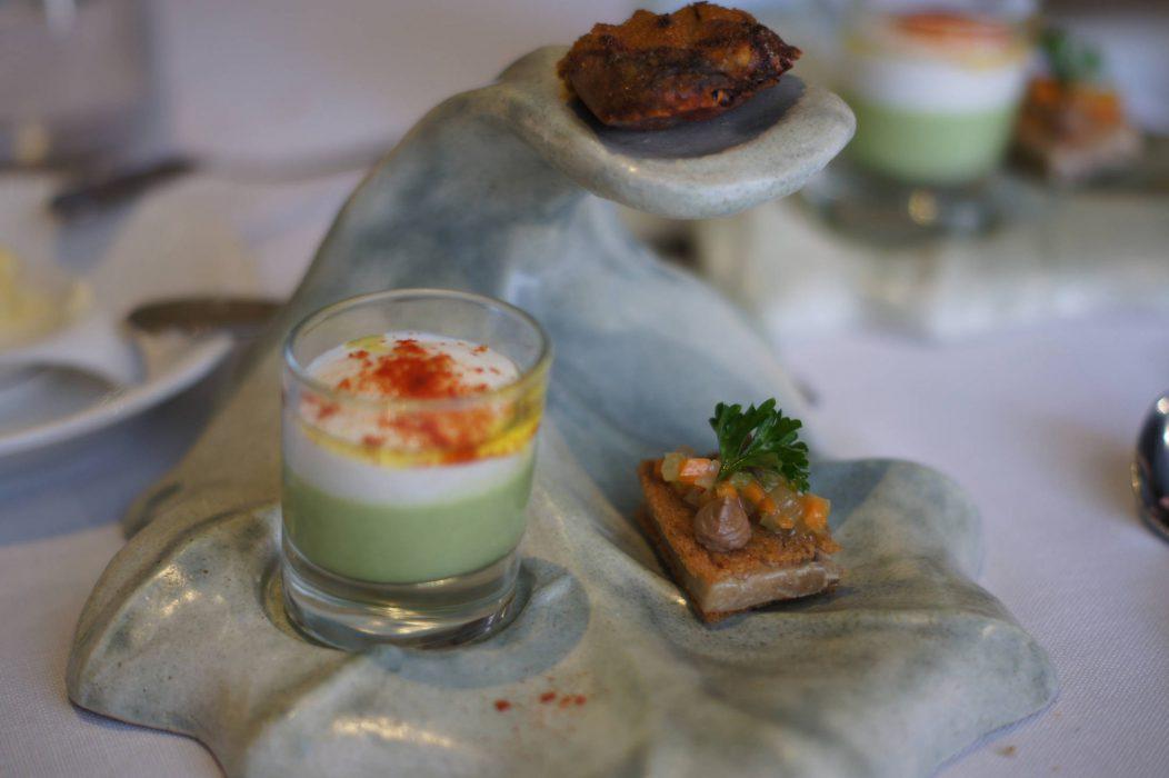 Gazpacho de tomate verde y kéfir