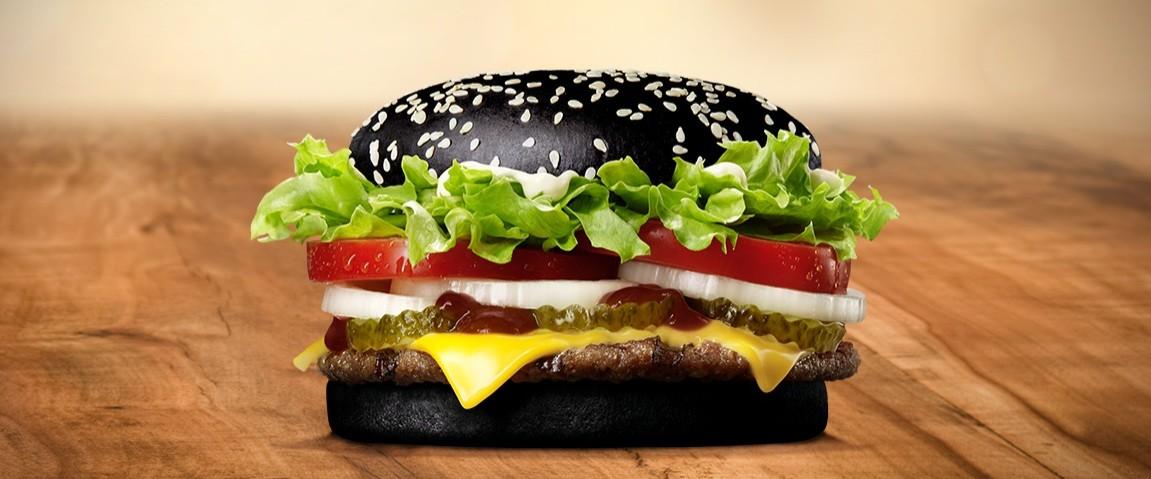 hamburguesa negra de Burger king