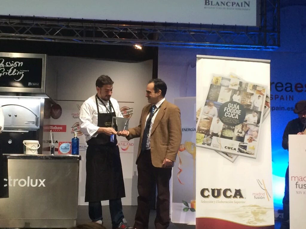 Javi Estevez cocinero revelacion 2016Javi Estevez cocinero revelacion 2016