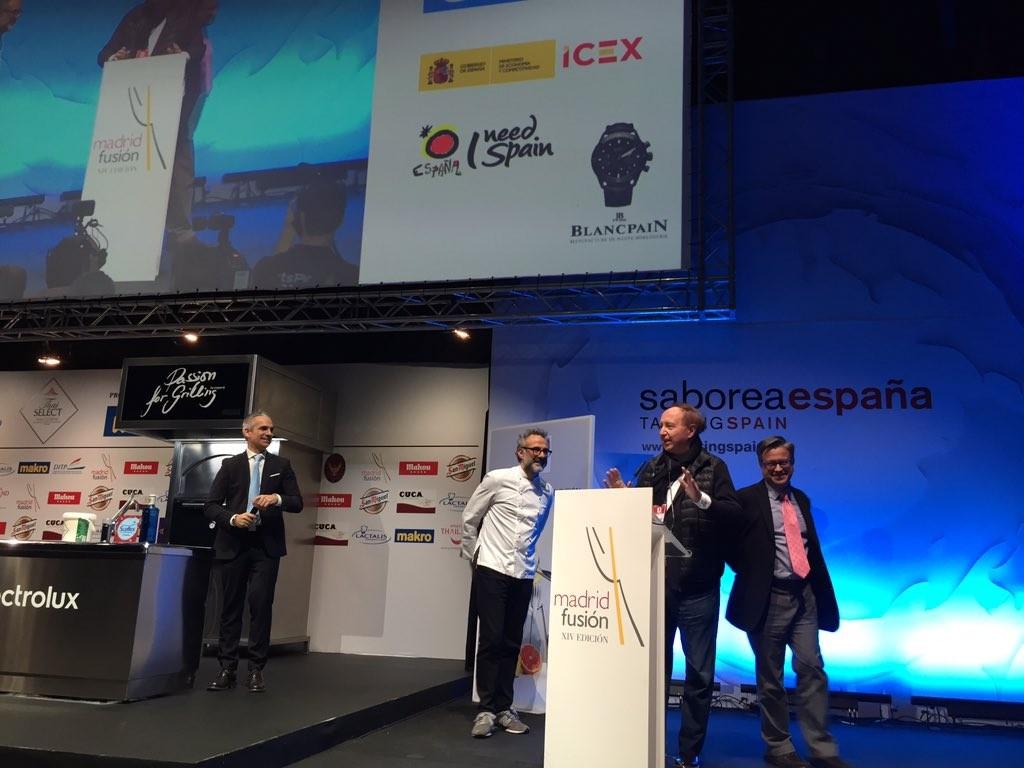 Massimo Bottura Mejor Cocinero de Europa - Jóse Carlos Capel @madridFusion